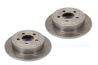Jeep JK Slotted & Cross Drilled Performance Brake Rotors - set of 4