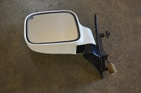 Salvage Left Electric Mirror - White: 92-02 Trooper
