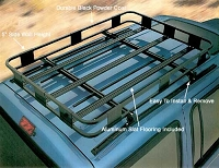 Surco Safari Style Basket Roof Rack:  Isuzu Trooper 92-02