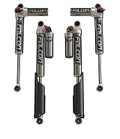 Falcon Series 3.3 Fast Adjust Piggyback Shock Absorbers - All 4 - JL