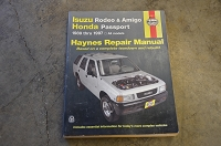 Salvage Haynes Repair Manual 1989 - 1997 Amigo, Passport