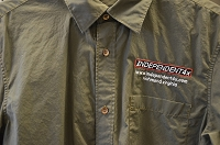 Independent4x Embroidered Button Down Shirt - Dark Green