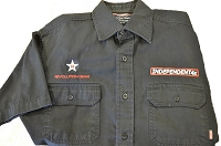 Independent4x Embroidered Shop Shirt - Black