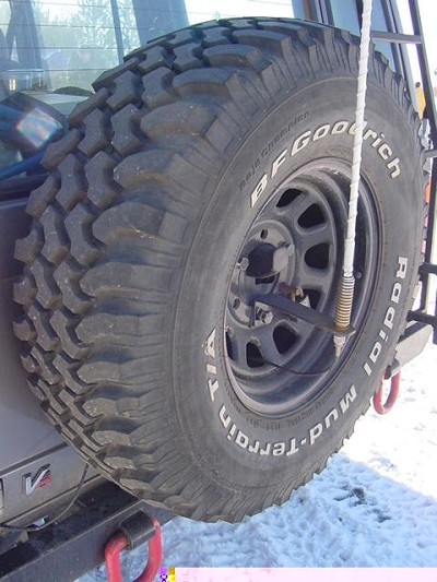 CB Antenna Mount: Spare Tire