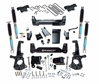 6 inch Lift Kit - 2011-2018 Chevy Silverado and GMC Sierra 2500HD or 3500 - Knuckle Kit with Bilstein Shocks