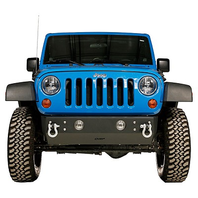 OR-Fab JK Stubby Bumper:  OEM Light Mount Rock Slider Front Bumper