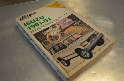 Salvage Chilton's Repair Manual 1981 - 1991 Isuzu